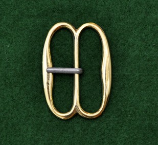 French large double D buckle, brass