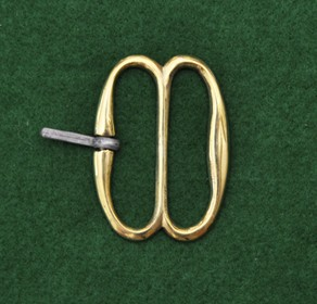 French double D buckle, reversed tongue