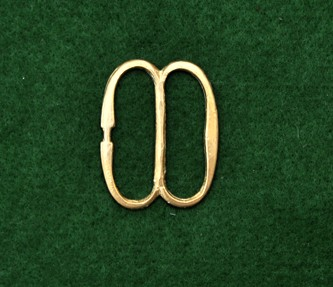 Small French double D buckle, reversed tongue