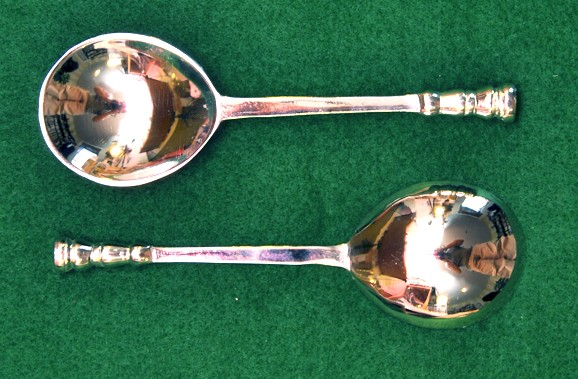 Sealtop Silver Plated Brass spoon, rounded fig bowl