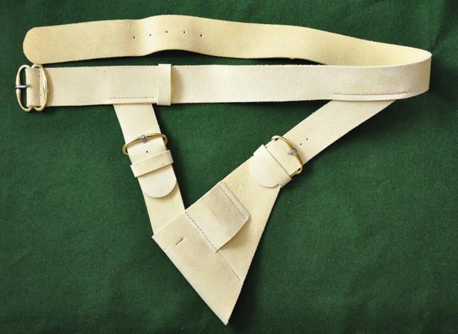 Soldier waistbelt with adjustable sword frog (3 buckles)