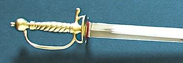 """À la mousquetaire"" French soldier sword with cast brass grip"